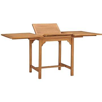 Rozkládací zahradní stůl (110–160) x 80 x 75 cm masivní teak (47420)