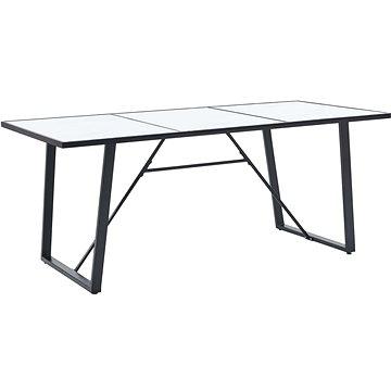 Jídelní stůl bílý 200x100x75 cm tvrzené sklo 281555 (281555)