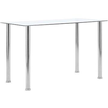 Jídelní stůl průhledný 120x60x75 cm tvrzené sklo (281850)