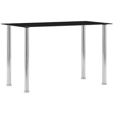 Jídelní stůl černý 120x60x75 cm tvrzené sklo (281852)
