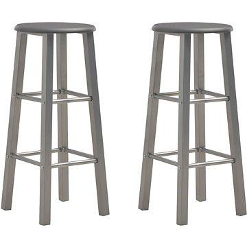 Barové stoličky 2 ks antracitové MDF (284387)