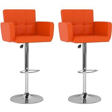 Barové stoličky 2 ks oranžové umělá kůže (323660)