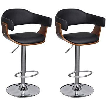 Barové stoličky 2 ks umělá kůže (241052)