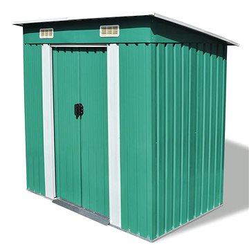 Zahradní domek zelený kovový (42908)