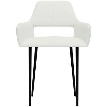 Jídelní židle 2 ks bílé textil (322965)