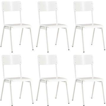 Jídelní židle 6 ks bílé překližka (278799)