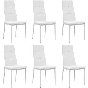 Jídelní židle 6 ks bílé umělá kůže (275436)