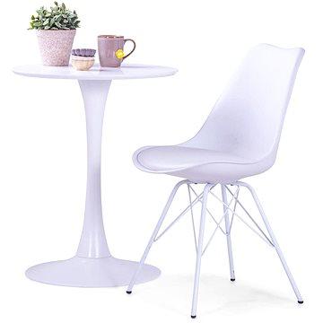 Jídelní židle 6 ks bílé umělá kůže (278651)