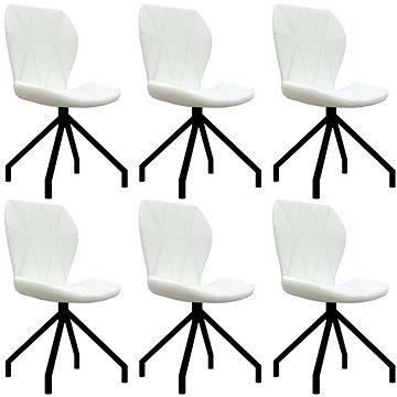 Jídelní židle 6 ks bílé umělá kůže (3053362)