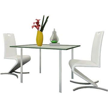 Jídelní židle 2 ks bílé umělá kůže (241299)