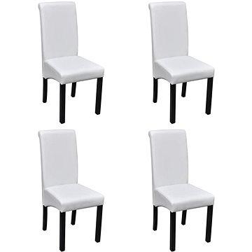 Jídelní židle 4 ks bílé umělá kůže (241729)