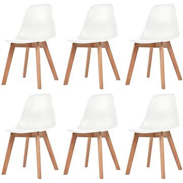 Jídelní židle 6 ks bílé plast (244773)
