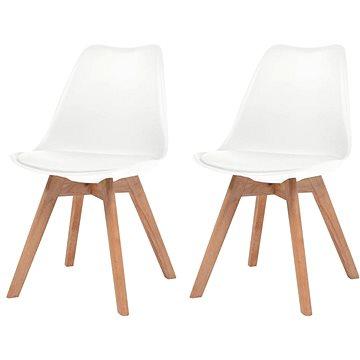 Jídelní židle 2 ks bílé umělá kůže (244783)