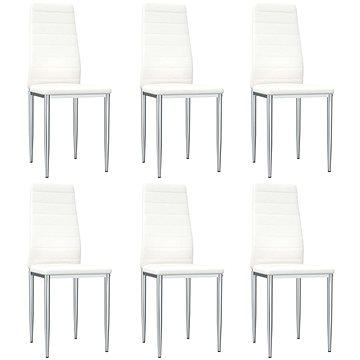 Jídelní židle 6 ks bílé umělá kůže (248276)