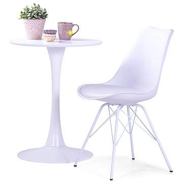 Jídelní židle 2 ks bílé umělá kůže (283865)
