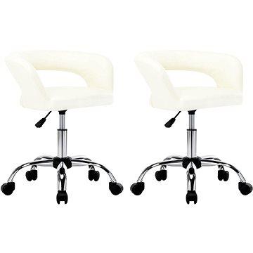 Jídelní židle 2 ks bílé umělá kůže (323256)