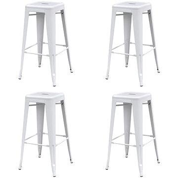 Barové stoličky 4 ks bílé ocel (3052634)