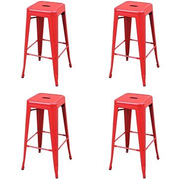 Barové stoličky 4 ks červené ocel (3052638)