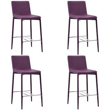 Barové stoličky 4 ks fialové umělá kůže (279685)