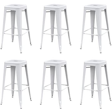 Barové stoličky 6 ks bílé ocel (3052635)
