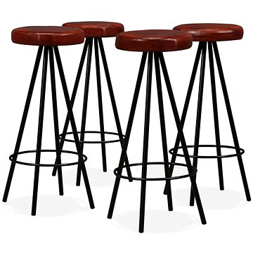 Barové stoličky 4 ks pravá kůže (245444)