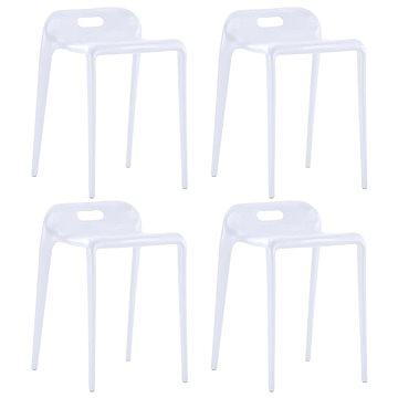 Stohovatelné stoličky 4 ks bílé plast (247282)