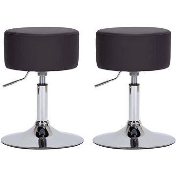 Barové stoličky 2 ks hnědé umělá kůže (249558)