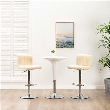 Barové stoličky 2 ks krémové umělá kůže (249742)
