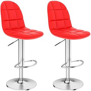 Barové stoličky 2 ks červené umělá kůže (249786)