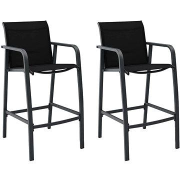 Zahradní barové židle 2 ks černé textilen 48116 (48116)