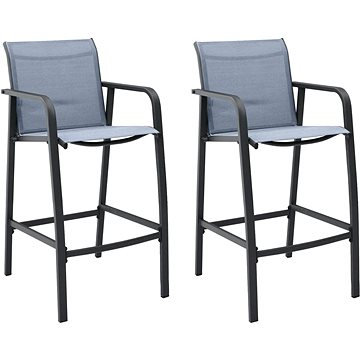 Zahradní barové židle 2 ks šedé textilen 48118 (48118)