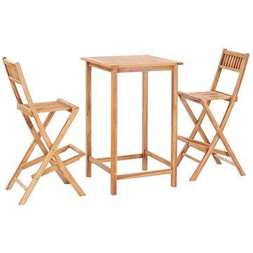 3dílný barový set masivní teakové dřevo 44671 44671 (44671)