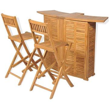 3dílný bistro set se skládacími židlemi masivní teakové dřevo 43805 43805 (43805)