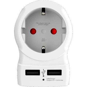 SKROSS cestovní adaptér UK USB pro použití ve Velké Británii (PA28USB)