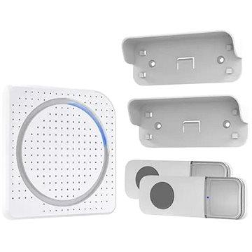 Solight bezdrátový zvonek, 2 tlačítka, do zásuvky, 200m, bílý, learning code (1L67DT)