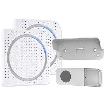 Solight 2x bezdrátový zvonek, do zásuvky, 200m, bílý, learning code (1L67DZ)