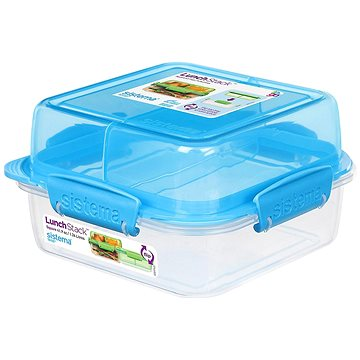 Sistema Lunch Stack Square To Go Blue Online 1.24L (4) (21610-2)