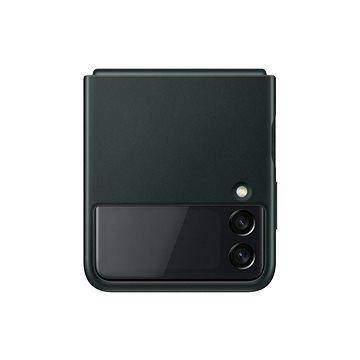 Samsung kožený zadní kryt pro Galaxy Z Flip3 zelený (EF-VF711LGEGWW)