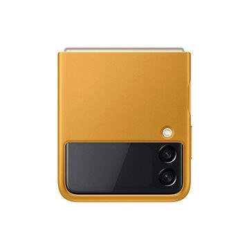 Samsung kožený zadní kryt pro Galaxy Z Flip3 mustard (EF-VF711LYEGWW)