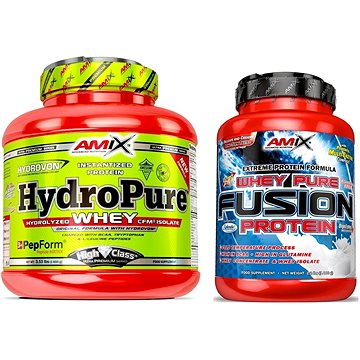 Amix Nutrition HydroPure Whey Protein, 1600g, Double Dutch Chocolate + Amix Nutrition WheyPro Fusion