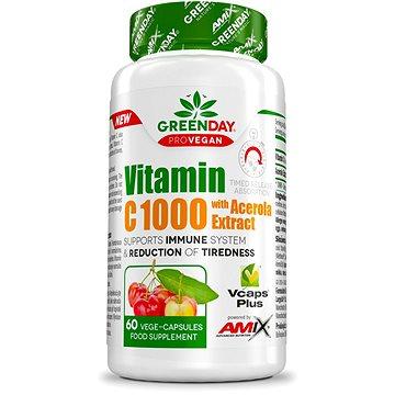 Amix Nutrition GreenDay® ProVEGAN Vitamin C 1000mg with Acerola 60 kapslí (8594159532519)