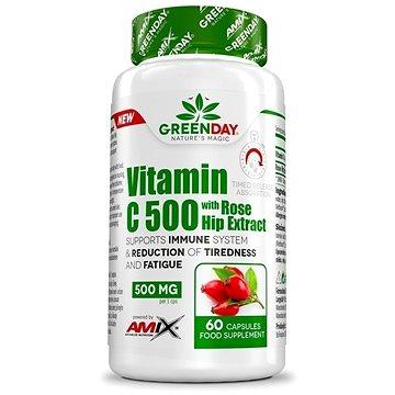 Amix Nutrition GreenDay® Vitamin C 500 s extraktem z šípků 60 kapslí (8594159532434)