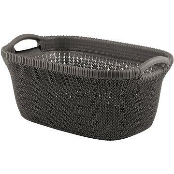 Curver koš na čisté prádlo Knit 40L hnědý (03677-X59)