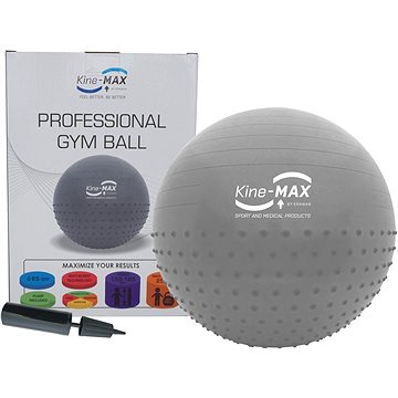 Kine-MAX Professional GYM Ball - stříbrný (8592822000822)