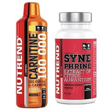 Nutrend Carnitine 100000, 1000ml, citron + Synephrine, 60 kapslí ZDARMA
