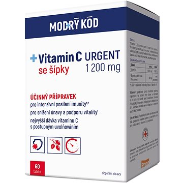 Modrý kód Vitamin C URGENT 1200 mg (4530797)