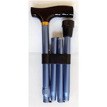 Sundo Skládací podpůrná hůl, výška 85 - 95 cm, matná modrá (S-35005)