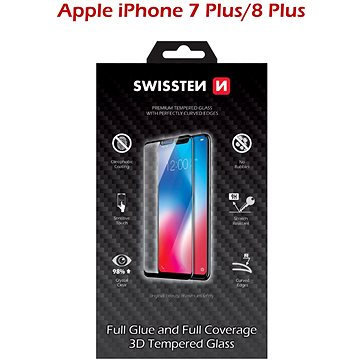 Swissten 3D Full Glue pro iPhone 7 Plus/ 8 Plus bílé (64701703)