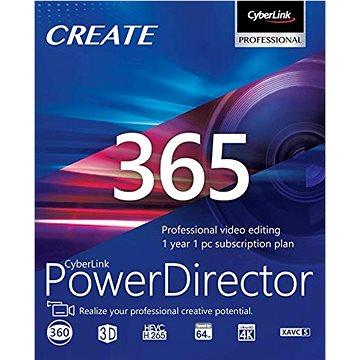 CyberLink PowerDirector 365 na 12 měsíců (elektronická licence) (cybePDR365)