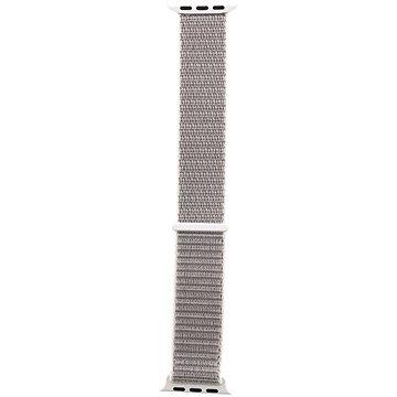 Tactical Látkový řemínek pro Apple Watch 38mm / 40mm Silver (8596311097119)